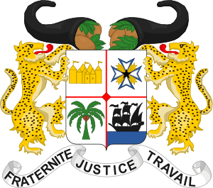 Benin coat of arms, readopted 1990