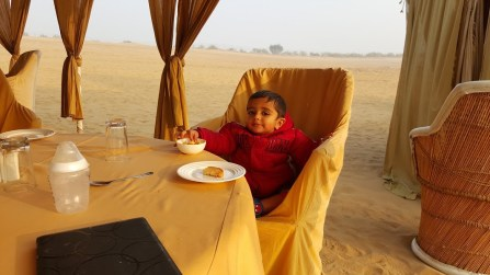Breakfast fit for a king, Rajasthan, India