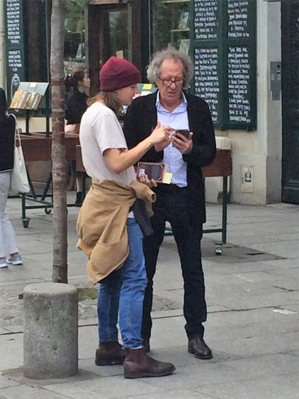 Geoffrey Rush at Shakespeare & Co., Paris.