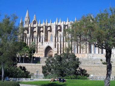 Palma Cathedral viewed from the sea side