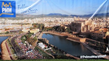 Banner for the Palma Marathon tomorrow