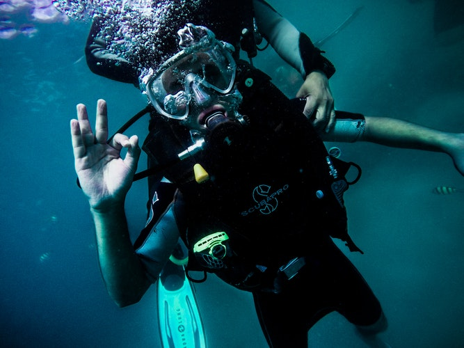 children learn dive