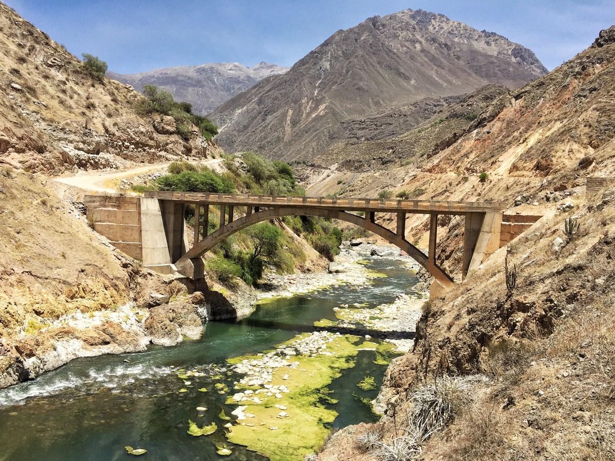 Colca canyon bridge