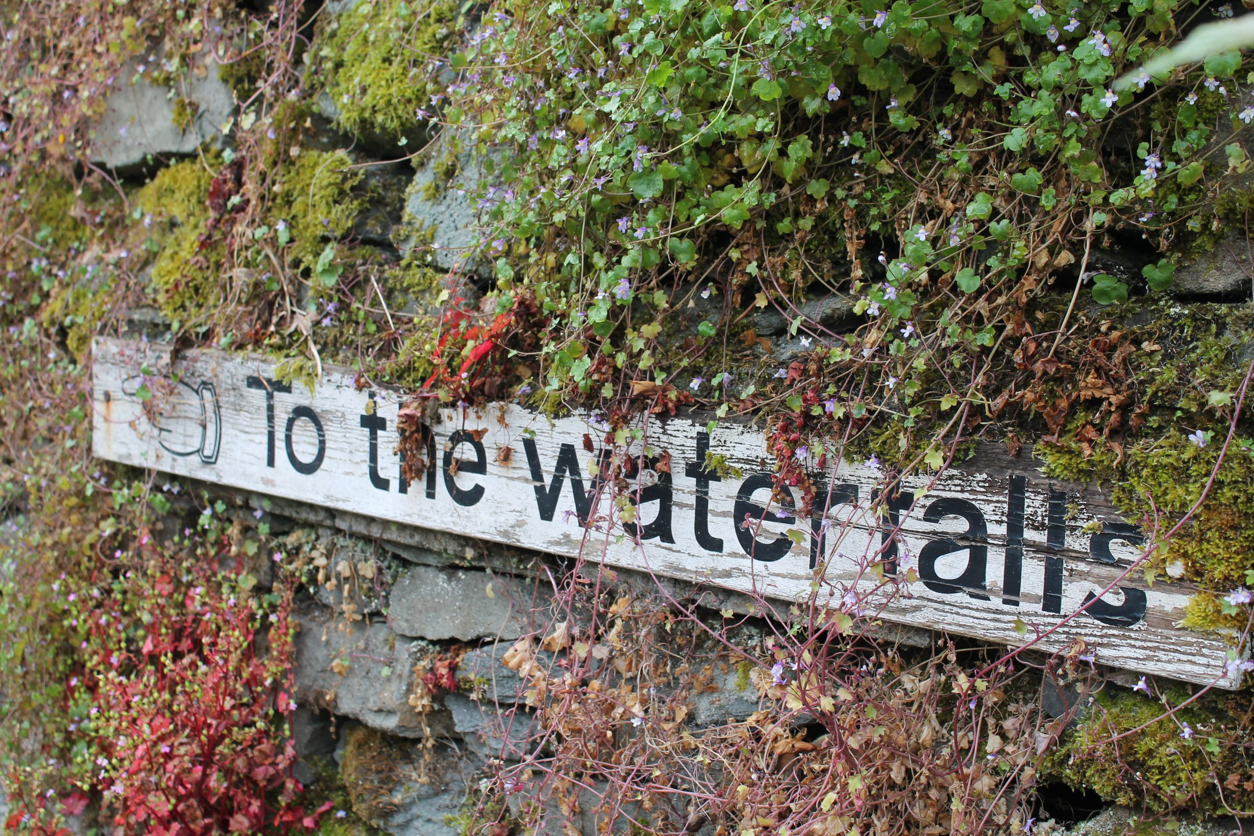 sign for ambleside waterfall