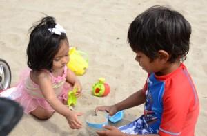 My kids both love the giant sandbox
