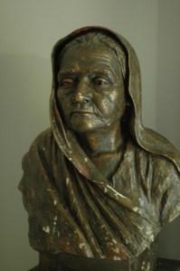 Statue of the Mahatma's wife, Kasturba Gandhi.