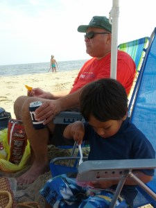Nothing says Jersey Summer like a cooler of food and beach chairs on a warm summer day