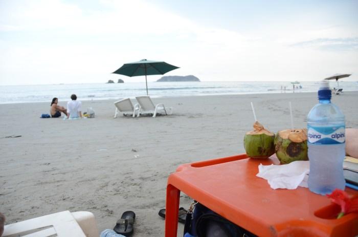 Couple sitting on a beach