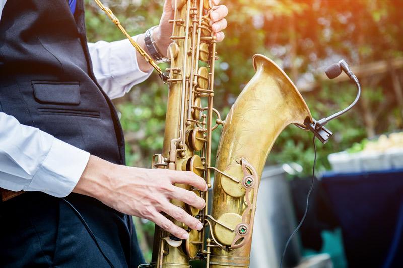 A jazz saxophone player