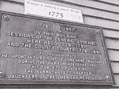 Historic Tablet on the outside of Kingston Free Library