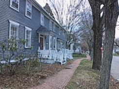 Historic Kingston Houses and Brick Sidewalk