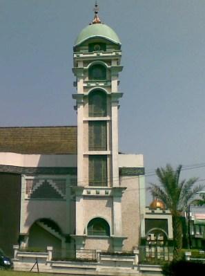 Menara Masjid Al Fajr Bandung Indonesia