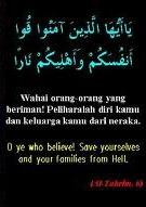 Pelihara dirimu dan keluarga1