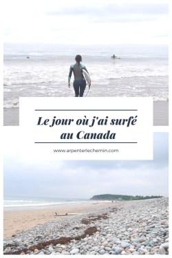 surfer eaux froides canada nouvelle-ecosse blog voyage