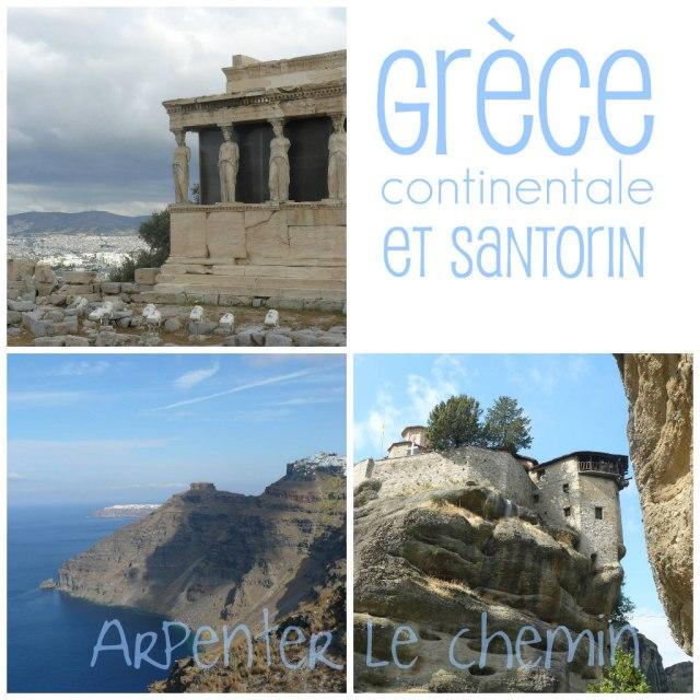 titre Grèce continentale et santorin