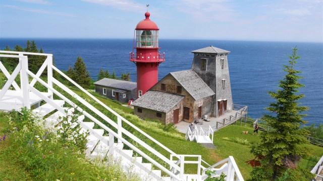 Quebec Gaspesie Phare renommee voyage road-trip