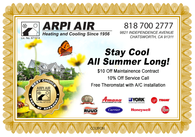 Heating and AC, HVAC installation & Repair Service coupon