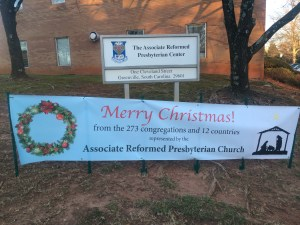 merry christmas arp center sign