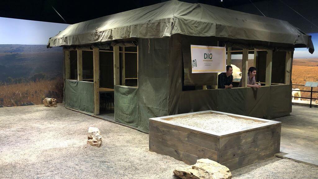 origins experience tent