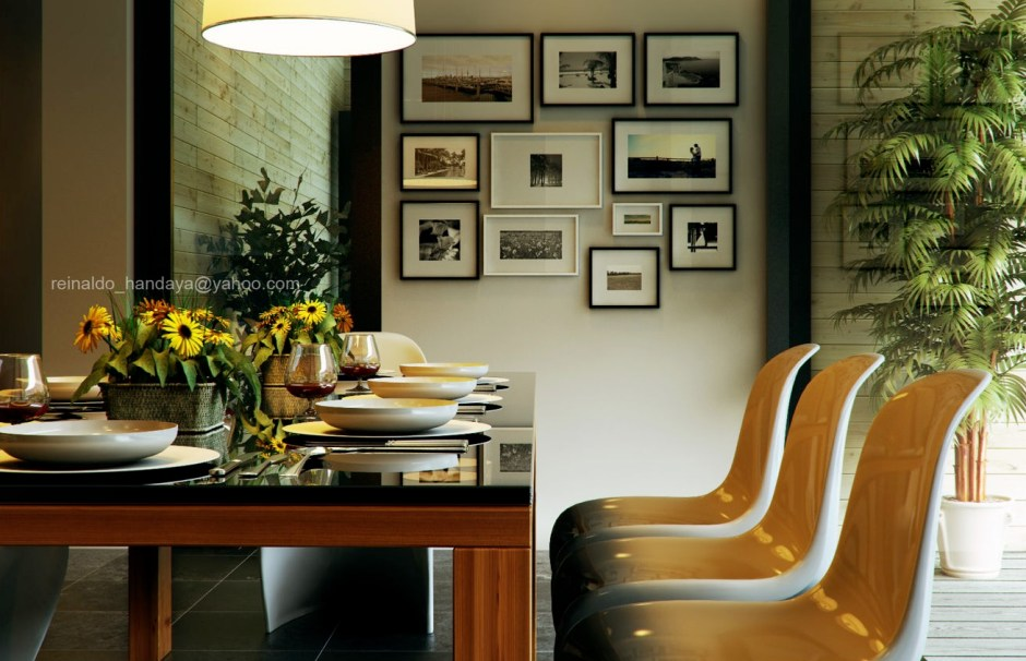 Retro-Modern-Dining-by-Reinaldo-Framed-artistic-photography-collection