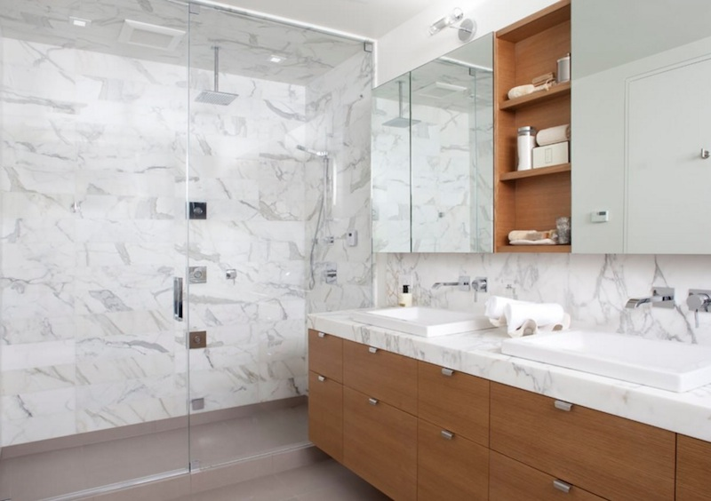 white-marble-shower