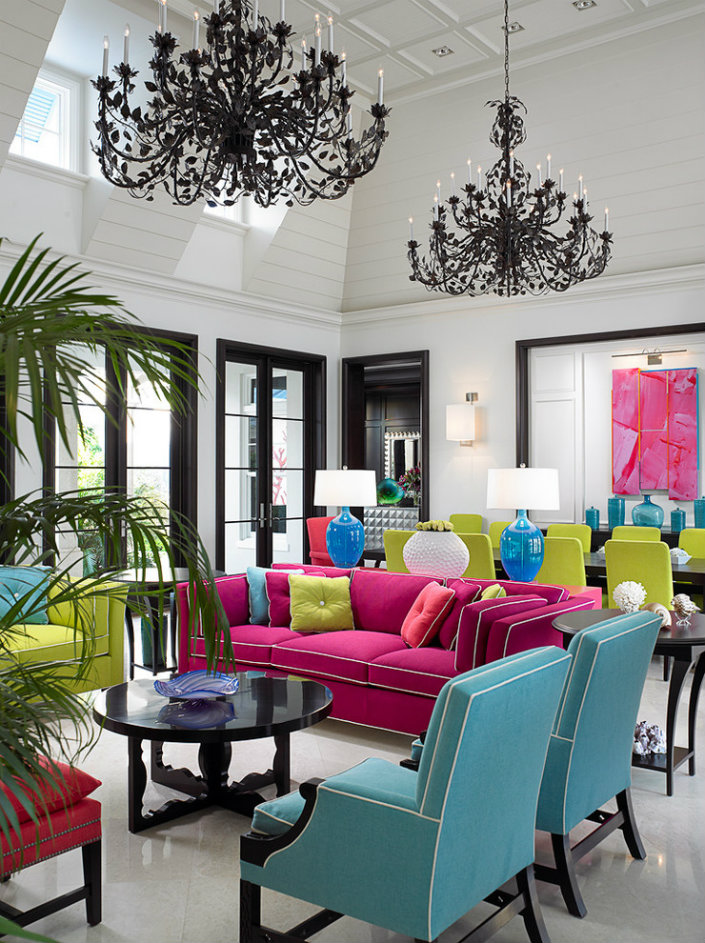 Elegant-Living-Room-Tropical-design-ideas-for-Neon-Wall-Paint-Colors-Decorating-Ideas