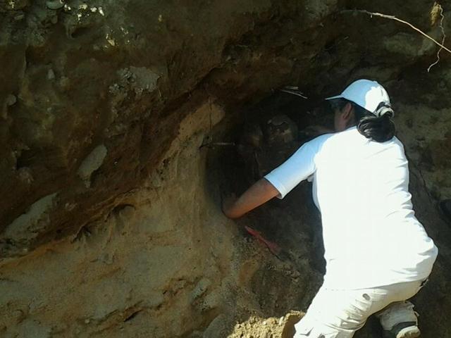 Halla restos de tumba prehispánica cuando realizaban obras urbanas en Motupe
