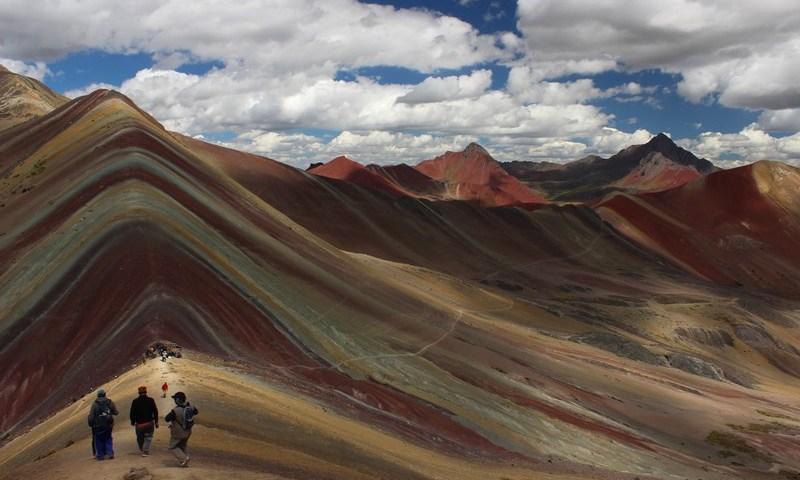 Montaña de siete colores | Montaña Arco Iris | Rainbow Mountain en Vinicunca, Quispicanchis, Cusco