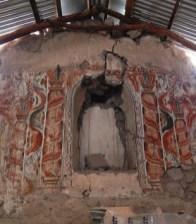 retablo pintado, del siglo 18, la Iglesia de Sotoca, Arica y Parinacota (Chile). Foto del autor. Tenga en cuenta las decoraciones similares y combinación de colores con el ejemplo de Pitumarca.