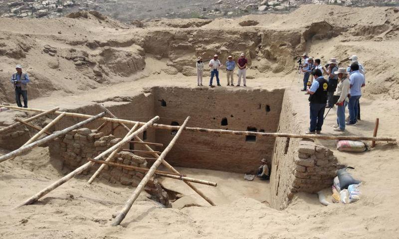 Hallan monumental tumba de época inca en sitio arqueológico Mata Indio