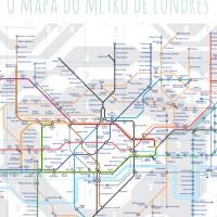 O mapa do metrô de Londres