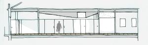 sección longitudinal arquitectura Vigo