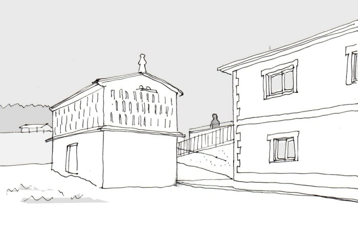 boceto-rampa-horreo-arquitectura-ampliacion-arquitectos-patrimonio-coruna-arquitecto