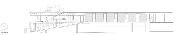 alzado-proyecto-planos-casa-domaio-moana-vigo-diseno-arquitecto-madera-acero-vidrio-elevada-pasarela