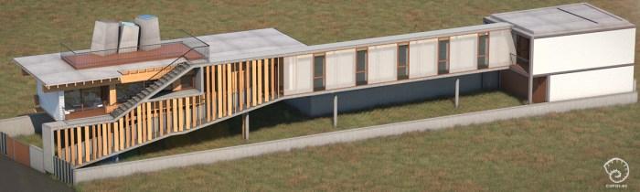 vivienda-domaio-moana-vigo-diseno-arquitecto-madera-acero-elevada-pasarela-rampa-terraza-lucernarios