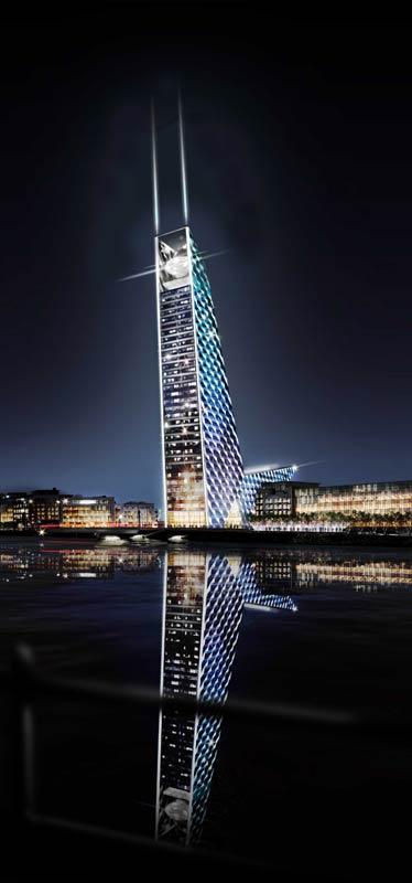 Torre U2, puerto de Dublin