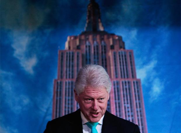 Bill Clinton, durante la presentación del proyecto