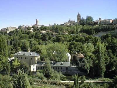 Vista de la ceca desde el norte con Segovia al fondo.