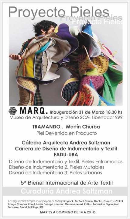 Proyecto Pieles, Invitación:  Marq