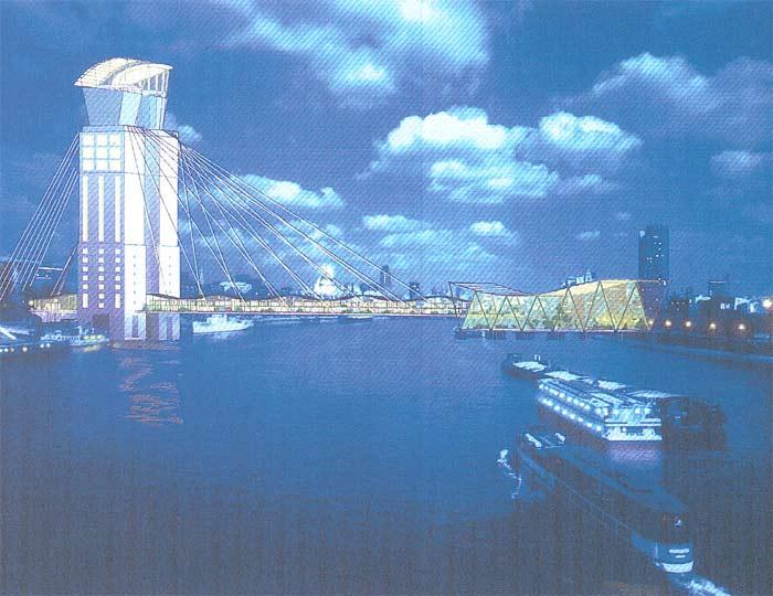Recreación del puente sobre el Támesis   Colección Antoine Grumbach