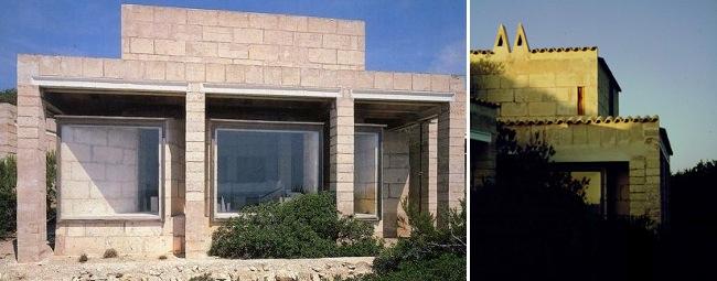 Can Lis, 1971. Portopetro, Santanyí, Mallorca. Arquitecto y promotor Jørn Utzon. Vivienda situada en las inmediaciones de Can Lis.