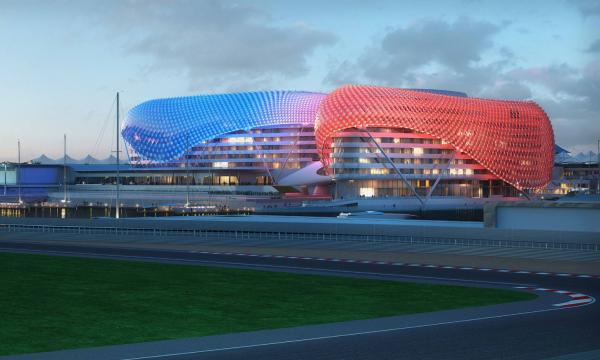 The Yas Hotel Abu Dhabi by Asymptote Architecture
