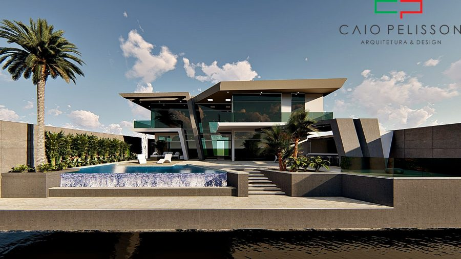Projeto Casa Moderna Contemporanea Arquitetura Futurista