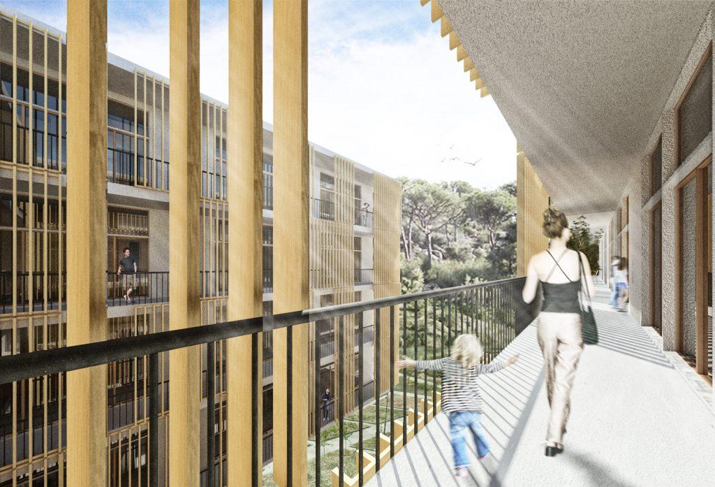 concurso vivienda protegida castelldefels sostenible arquitopia vista