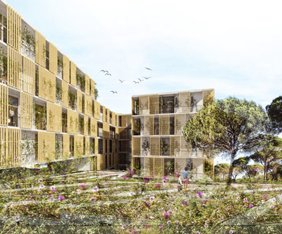concurso vivienda protegida castelldefels sostenible arquitopia vista exterior