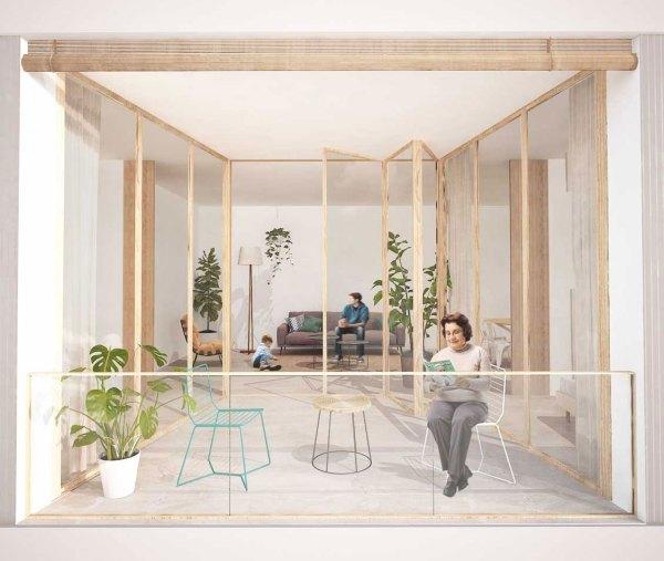 concurso vivienda protegida masnou sostenible arquitopia, vista galeria