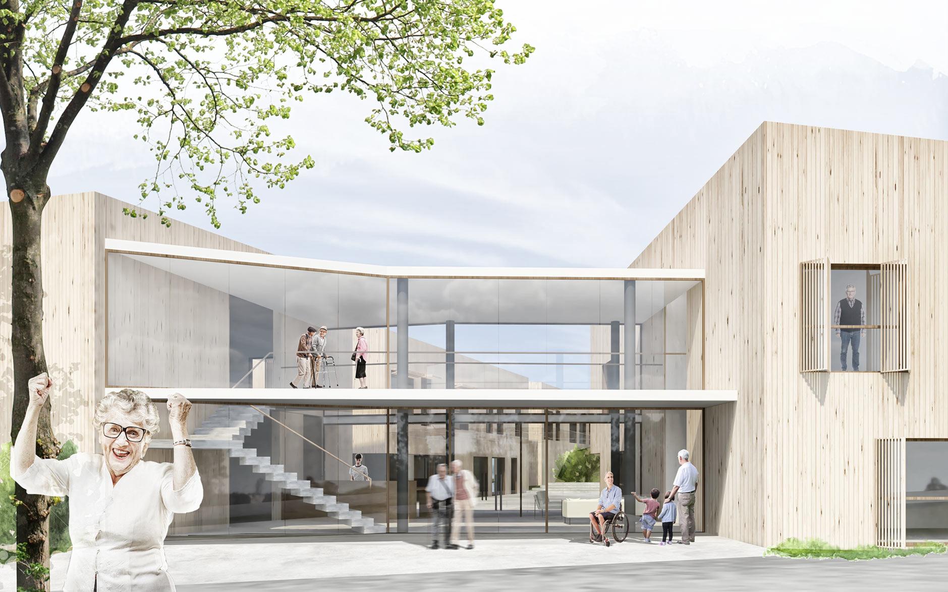 concurso centro de dia residencia selecionado sostenible nzeb