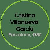 Cristina Villanueva García Barcelona 1980