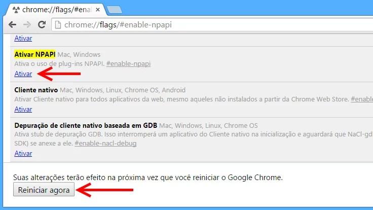 Como reativar plugin Java no Chrome