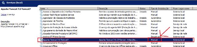 Lista dos serviços do Windows